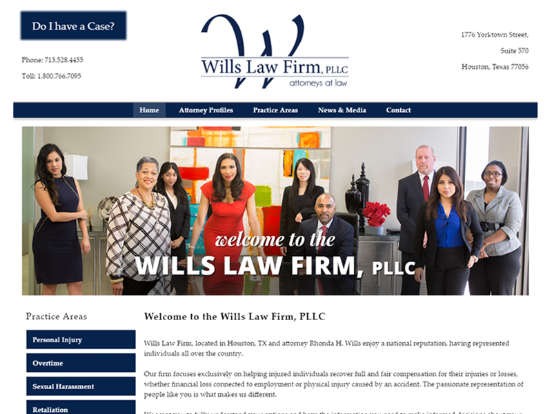 Rhonda Wills Law Firm Website Screenshot