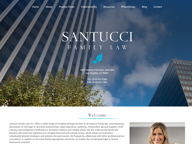 Santucci Family Law Website Screenshot