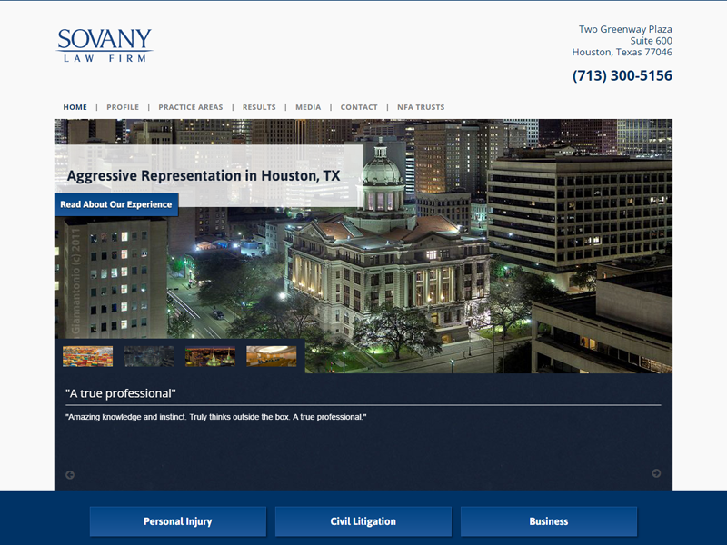 Sovany Law Website Screenshot