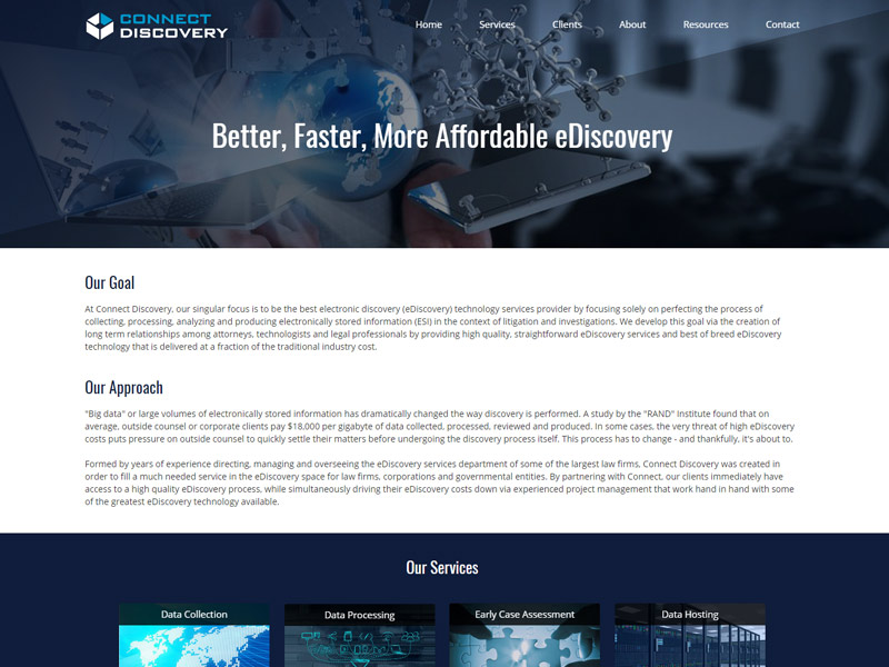 Connect Discovery Website Screenshot
