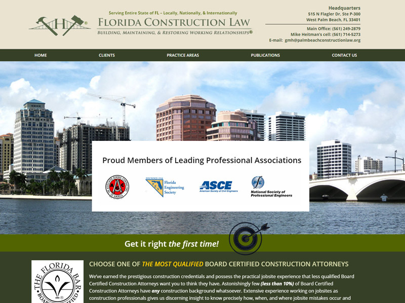 Heitman Law Firm Website Screenshot