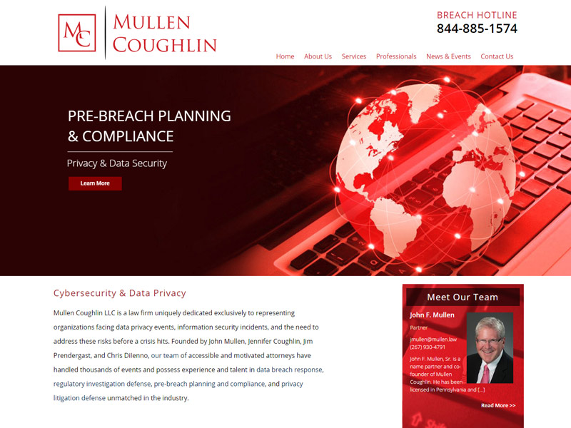 Mullen Law Website Screenshot