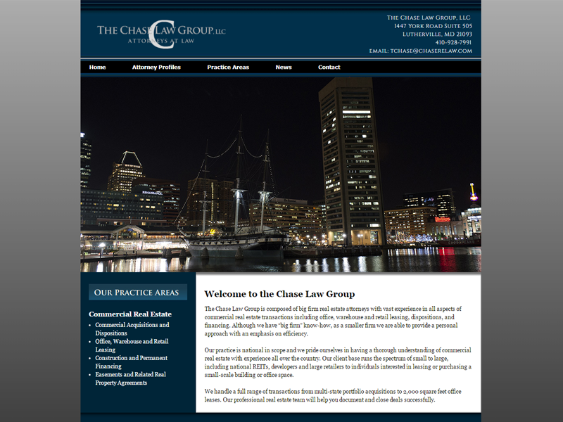 Chase Law Group Website Screenshot