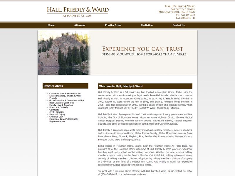 Hall, Friedly & Ward Website Screenshot