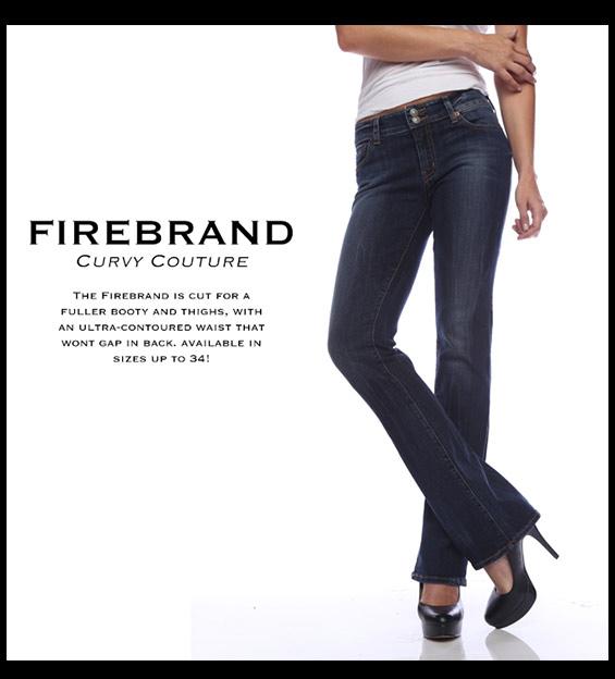 Model in Plus Size Denim Jeans