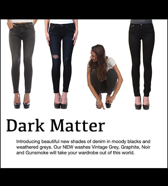 Model in Denim Jeans