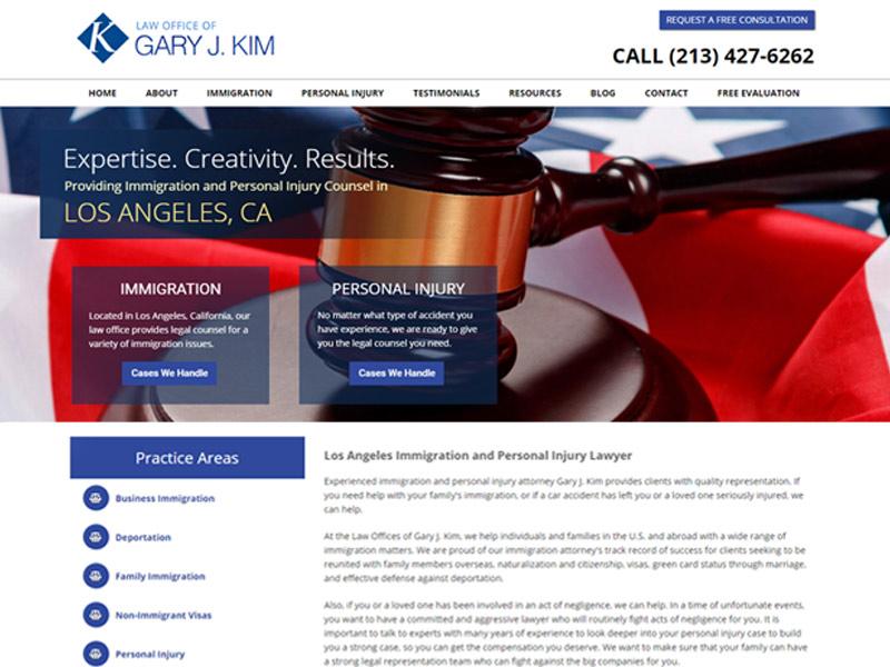 screenshot of website gjklawgroup.com
