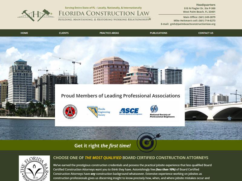 Heitman Law Firm Website Screenshot